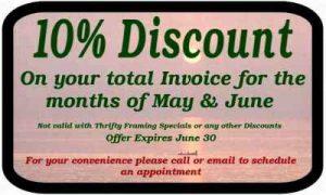 Summer Framing discounts Coupon